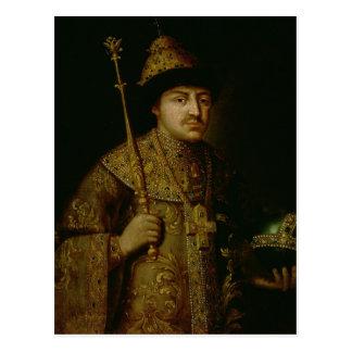 Portrait of Tsar Fyodor III Alexeevich Postcard