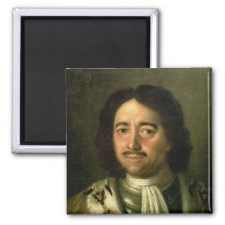 Portrait of Tsar Peter I the Great  1772 Square Magnet