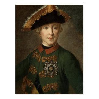 Portrait of Tsar Peter III Postcard