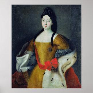 Portrait of Tsarevna Anna Petrovna, 1740s Poster