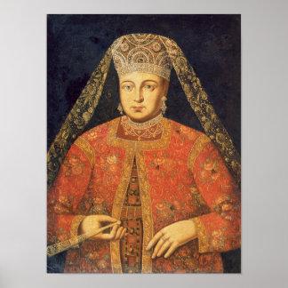 Portrait of Tsarina Marfa Matveyevna Poster