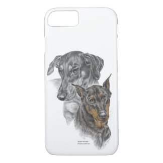 Portrait of Two Dobermans for keys iPhone 8/7 Case