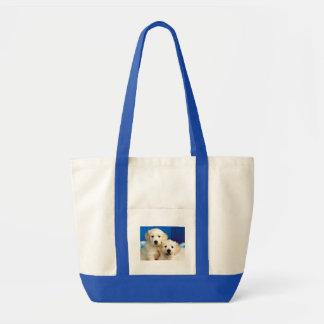 Portrait of two Labrador pups Impulse Tote Bag