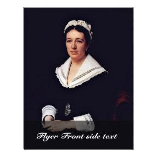 Portrait Of Vera Nikolaevna Tretiakova Born Mamont 21.5 Cm X 28 Cm Flyer