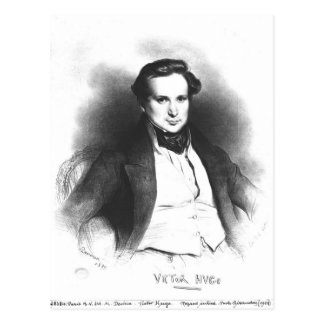 Portrait of Victor Hugo Postcard