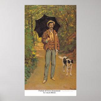 Portrait of Victor Jacquemont by Claude Monet Poster