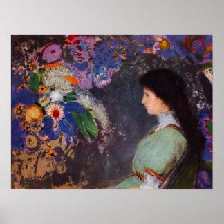 Portrait of Violet Heymann by Bertrand-Jean Redon Poster