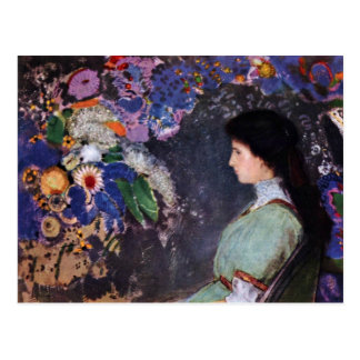 Portrait Of Violette Heymann By Odilon Redon Postcard