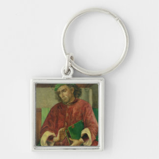 Portrait of Virgil , c.1475 Silver-Colored Square Key Ring