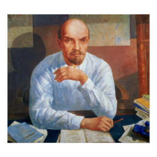 Portrait of Vladimir Ilyich Lenin , 1934 Poster