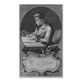 Portrait of Voltaire at Ferney Poster