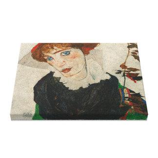 Portrait of Wally by Egon Schiele Canvas Print
