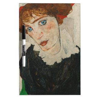 Portrait of Wally by Egon Schiele Dry Erase Board