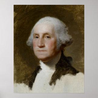 Portrait of Washington Poster