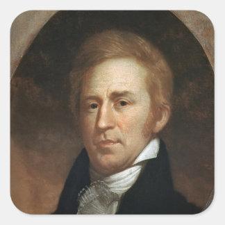 Portrait of William Clark, c.1807 Square Sticker