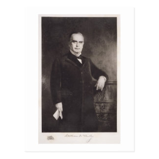 Portrait of William McKinley (litho) Postcard