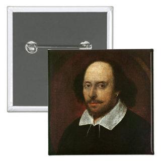 Portrait of William Shakespeare  c.1610 15 Cm Square Badge