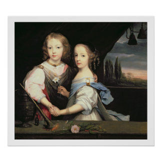 Portrait of Winston and Arabella (1648-1730) Churc Poster