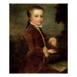 Portrait of Wolfgang Amadeus Mozart  aged Poster