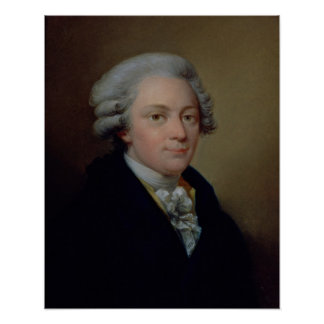 Portrait of Wolfgang Amadeus Mozart Poster