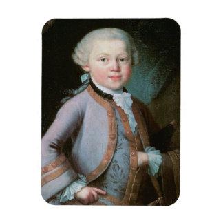 Portrait of Wolfgang Amadeus Mozart Rectangular Photo Magnet