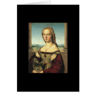 Portrait of Young Woman with Unicorn Card