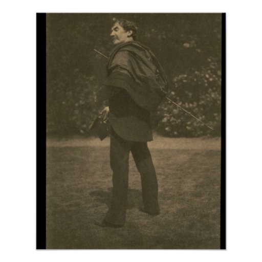 Portrait photograph of James Abbott McNeill Whistl Print