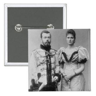 Portrait photograph of Tsar Nicholas II (1868-1918 15 Cm Square Badge