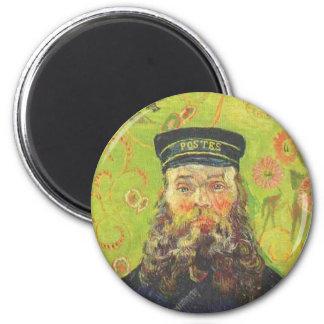 Portrait Postman Joseph Roulin - Vincent van Gogh 6 Cm Round Magnet