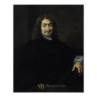 Portrait, presumed to be Rene Descartes Poster
