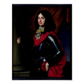 Portrait Prince Edward of Palatinate in Armour Posters