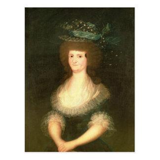 Portrait Queen Maria Luisa  wife of King Postcard
