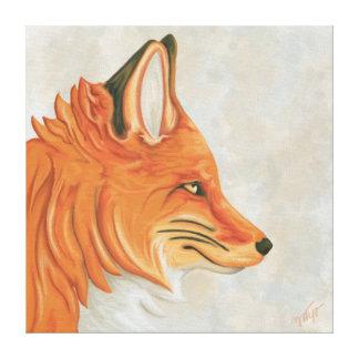 Portrait russet-red fox canvas print