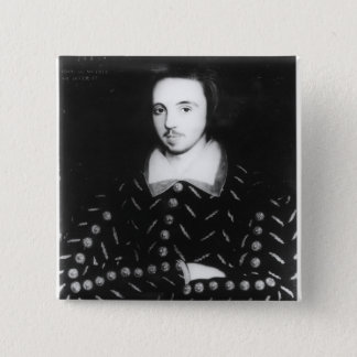 Portrait said to be Christopher Marlowe 15 Cm Square Badge