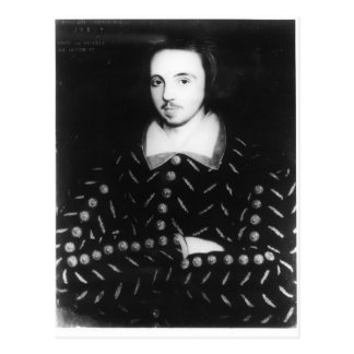 Portrait said to be Christopher Marlowe Postcard