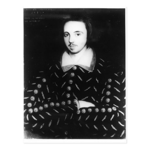 Portrait said to be Christopher Marlowe Post Card