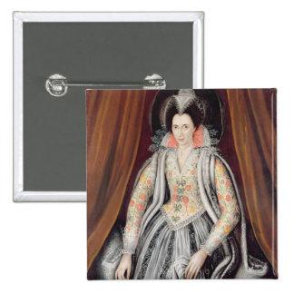 Portrait said to be Susan, Lady Grey 15 Cm Square Badge