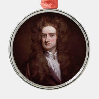 Portrait Sir Isaac Newton by Sir Godfrey Kneller Metal Ornament