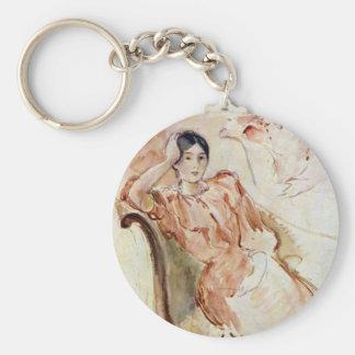 Portrait studies of Jeanne Pontillon by Morisot Keychain