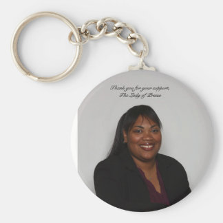 Portrait,  Thank you for your support, T... Basic Round Button Key Ring