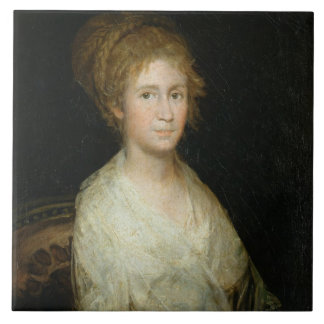 Portrait thought to be Josepha Bayeu (d.1812) wife Large Square Tile