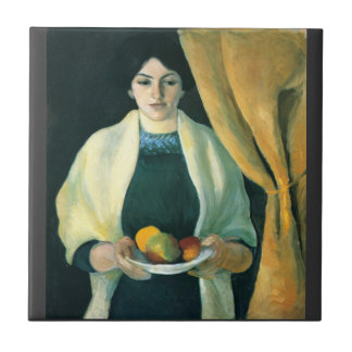 Portrait with apples  by Macke Tile