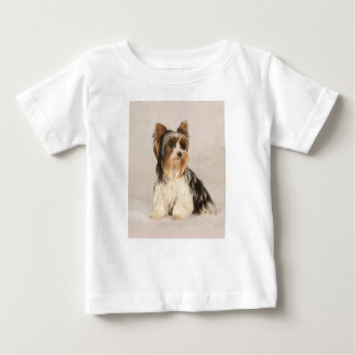 Portrait Yorkie Miss Mia Photo painting Baby T-Shirt