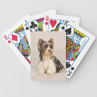 Portrait Yorkie Miss Mia Photo painting Bicycle Playing Cards