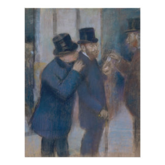 Portraits at the Stock Exchange by Edgar Degas 21.5 Cm X 28 Cm Flyer