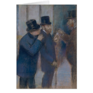 Portraits at the Stock Exchange by Edgar Degas Card