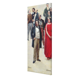 Portraits of artists and actors stretched canvas prints
