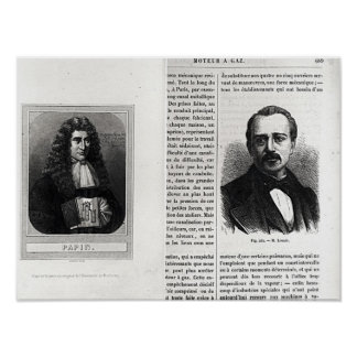 Portraits of Denis Papin  and Etienne Lenoir Poster