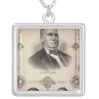Portraits of Illinois Thirteen Silver Plated Necklace