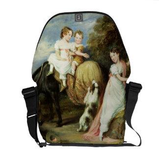 Portraits of the Children of the Rev.Joseph Arkwri Messenger Bag